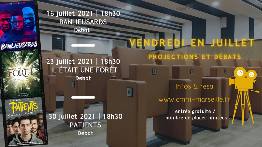 Vendredi de juillet - projections et débats